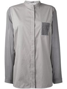 блузка без воротника Fabiana Filippi