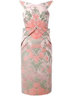 платье длины миди с жаккардовым узором Christopher Kane