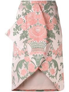 юбка с жаккардовым рисунком Christopher Kane