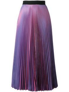 плиссированная юбка из тафты Christopher Kane