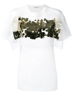 футболка с отделкой пайетками Christopher Kane