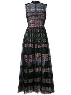длинное платье из тюля и кружева Christopher Kane