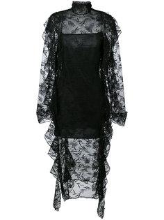 кружевное платье с неровными краями Christopher Kane