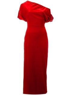 платье из эластичного бархата Christopher Kane
