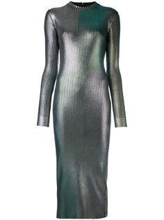 удлиненное блестящее платье Christopher Kane