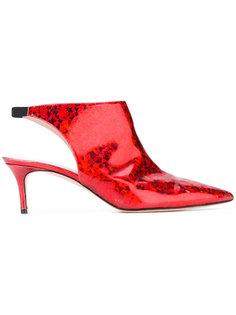 блестящие туфли без задника Christopher Kane