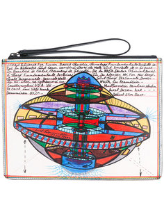 клатч с рисунком Christopher Kane