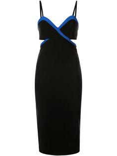 платье на бретельках с контрастной окантовкой Mugler