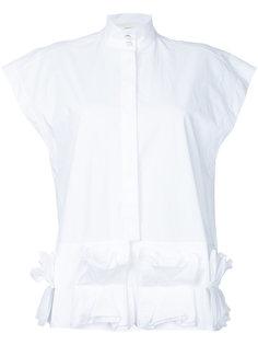 рубашка с отделкой оборками Delpozo