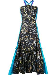 вечернее платье с расклешенным подолом Peter Pilotto