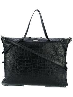 сумка-тоут с эффектом крокодиловой кожи Saint Laurent