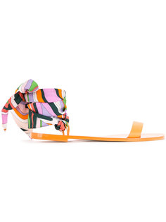 сандалии с завязками Emilio Pucci