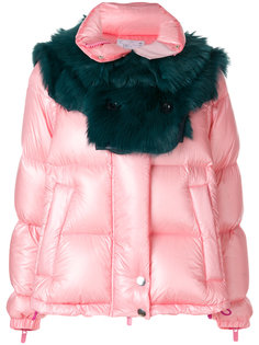дутая куртка с цигейкой  Sacai