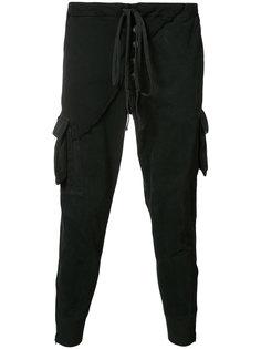 укороченные брюки с эластичным поясом Greg Lauren