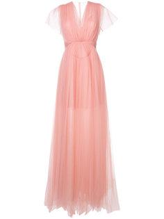 платье в пол с пышной юбкой Delpozo
