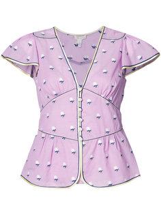 блузка с пышным коротким рукавом Marc Jacobs