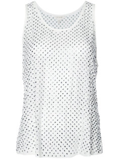 декорированная блузка с кристаллами без рукавов Marc Jacobs