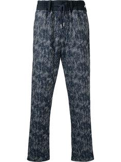 брюки с абстрактным узором на завязках Casely-Hayford