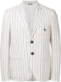 пиджак в полоску Andrea Pompilio
