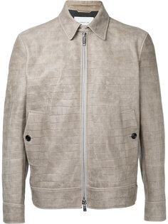 куртка с эффектом кожи крокодила Cerruti 1881