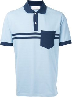 футболка-поло с полосатым принтом Cerruti 1881