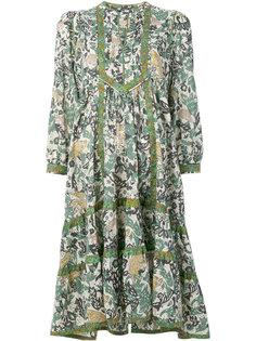 платье с принтом зверей Burberry