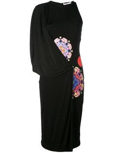 асимметричное платье с комбинированным принтом Givenchy