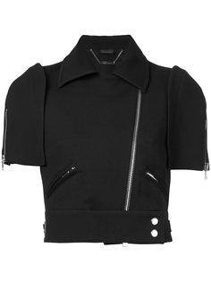 укороченная куртка на молнии Alexander McQueen