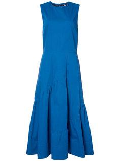 расклешенное платье с присборенными деталями Derek Lam