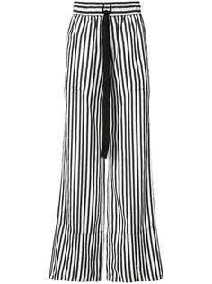 брюки-палаццо в полоску со шнурком  Derek Lam