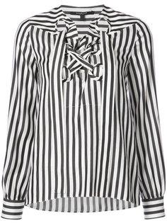 Long Sleeve Lace Up Blouse Derek Lam