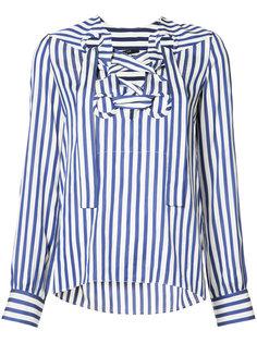 рубашка в полоску со шнуровкой  Derek Lam