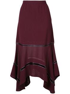 юбка с прозрачной вставкой Derek Lam