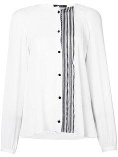 рубашка без воротника со смещенной оборкой Derek Lam