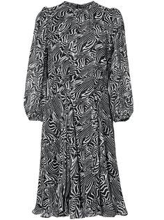 полупрозрачное платье с принтом зебра  Derek Lam