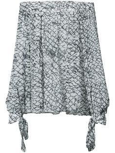 блузка с открытыми плечами с принтом  Derek Lam