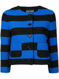 полосатый укороченный пиджак Boutique Moschino