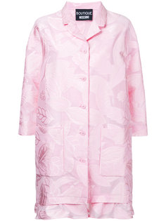 пальто с оборками и растительным принтом Boutique Moschino