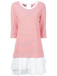 полосатое многослойное платье  Boutique Moschino