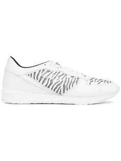 кроссовки с зебровыми панелями Kenzo