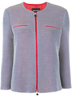куртка с контрастной окантовкой Giorgio Armani