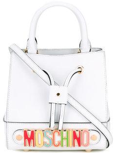 сумка-мешок с радужным логотипом Moschino