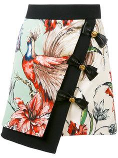 юбка с принтом птиц Fausto Puglisi