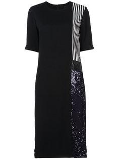 платье шифт с контрастными вставками Maki Oh