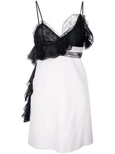платье-комбинация с кружевными вставками Giambattista Valli