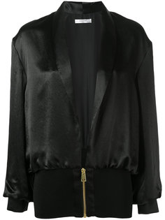 шелковая куртка-бомбер  Lanvin