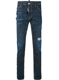 джинсы с брошами Dsquared2