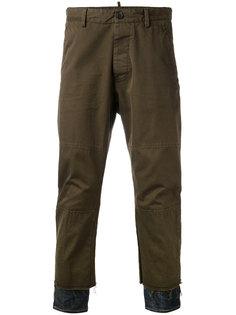 брюки с джинсовыми вставками снизу Dsquared2