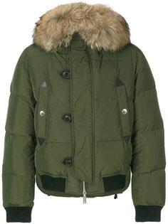 стеганая куртка с меховым воротником Dsquared2