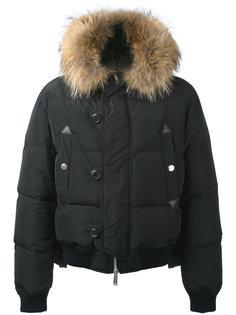 дутая куртка с капюшоном с меховой оторочкой Dsquared2